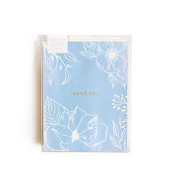Pen + Pillar Blue Floral Thank You Card - Set of 8