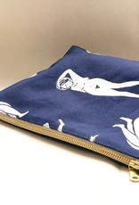 Ivy House Ivy House Designs | Naked Ladies Zipper Pouch Navy