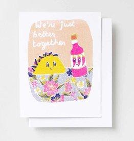 Yellow Owl Workshop Yellow Owl Workshop | Better Together Taco Risograph Card
