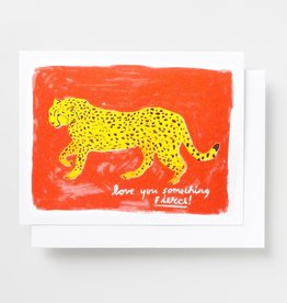 Yellow Owl Workshop Yellow Owl Workshop | Love You Something Fierce Risograph Card