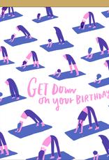 Egg Press Hello Lucky   Yoga Birthday Card