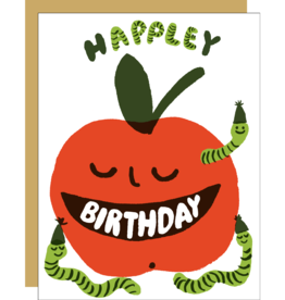 Egg Press Apple Birthday Card