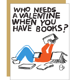 Egg Press Have Books Valentine Card