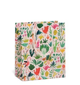 Red Cap Colorful Birds Gift Bag