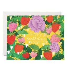 Red Cap Strawberry Mom Birthday Card