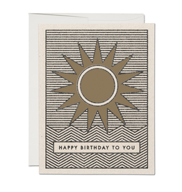 Red Cap Sunshine Birthday Card