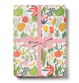 Red Cap Gift Wrap Roll - Succulent Garden (3 sheets)