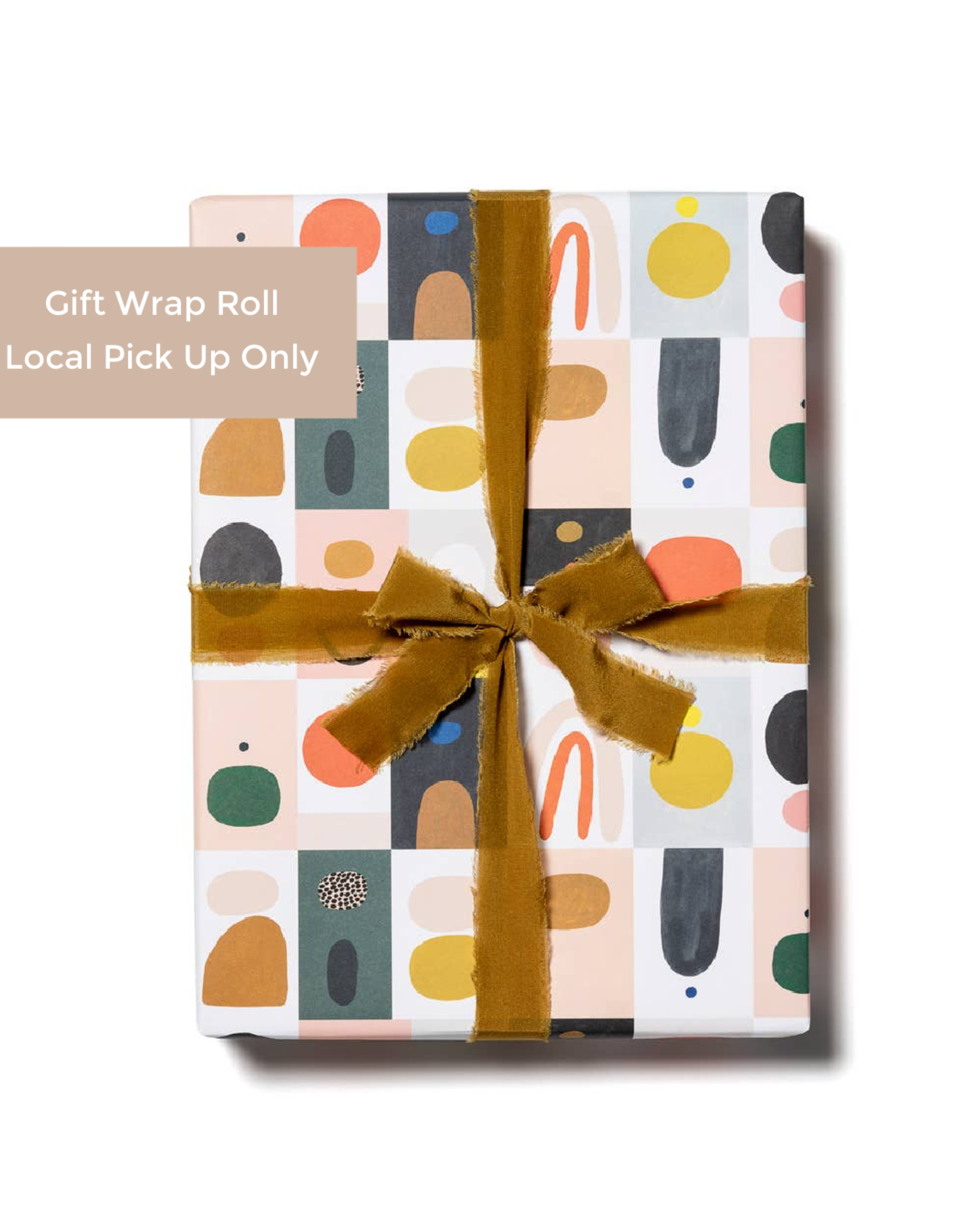 Red Cap Red Cap | Gift Wrap Roll - Color Blocks (3 sheets)