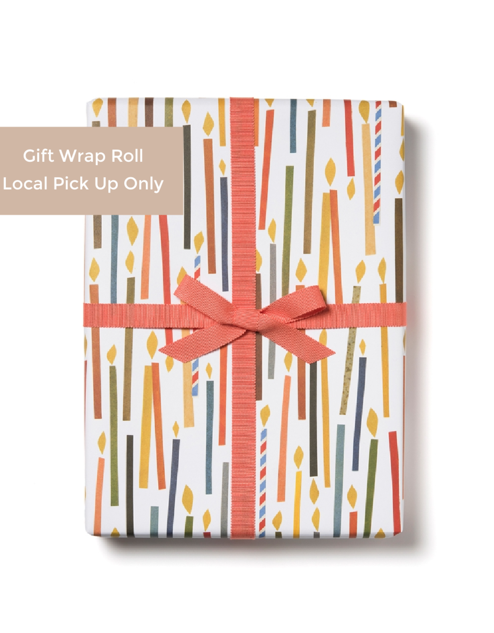 Red Cap Red Cap   Candles Gift Wrap Roll
