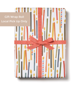 Red Cap Gift Wrap Roll - Candles (3 sheets)