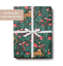 Red Cap Gift Wrap Roll - Tiger (3 sheets)
