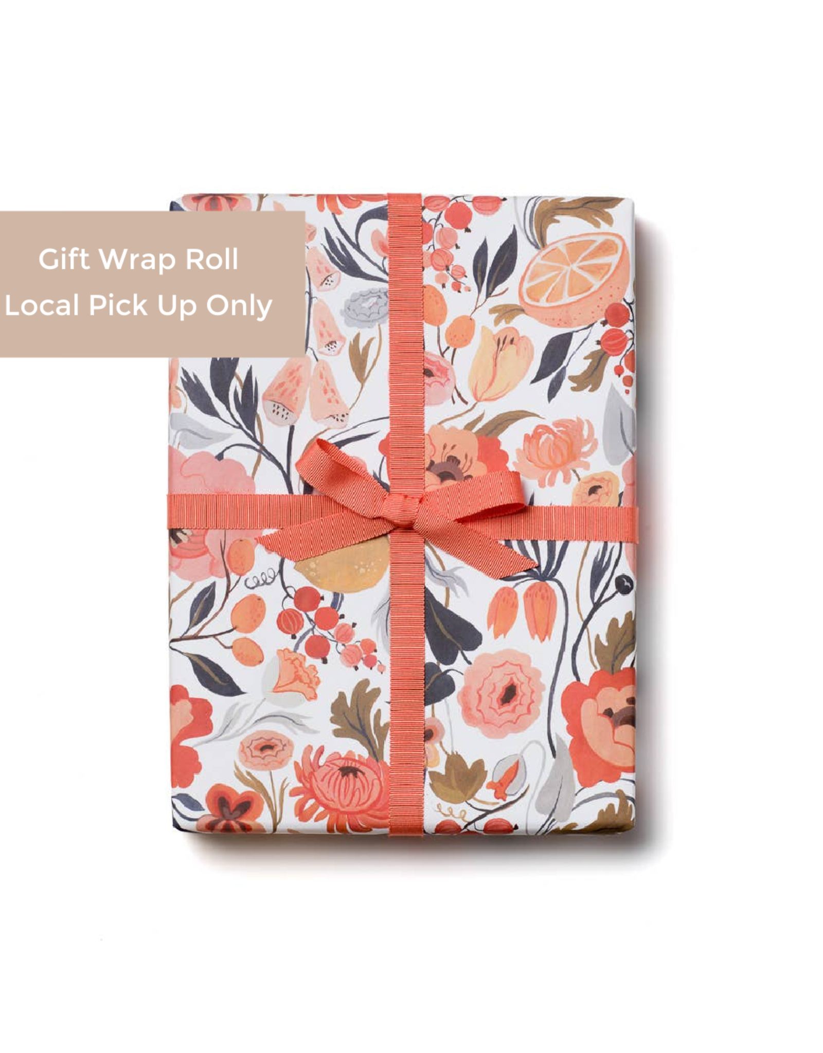 Red Cap Red Cap | Citrus Peach Gift Wrap Roll