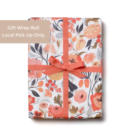 Red Cap Gift Wrap Roll - Citrus Peach (3 sheets)