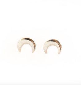 Rose Gypsy Upside Down Crescent Moon Studs