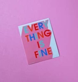 A Shop Of Things A Shop Of Things | Everything is Fine Sticker