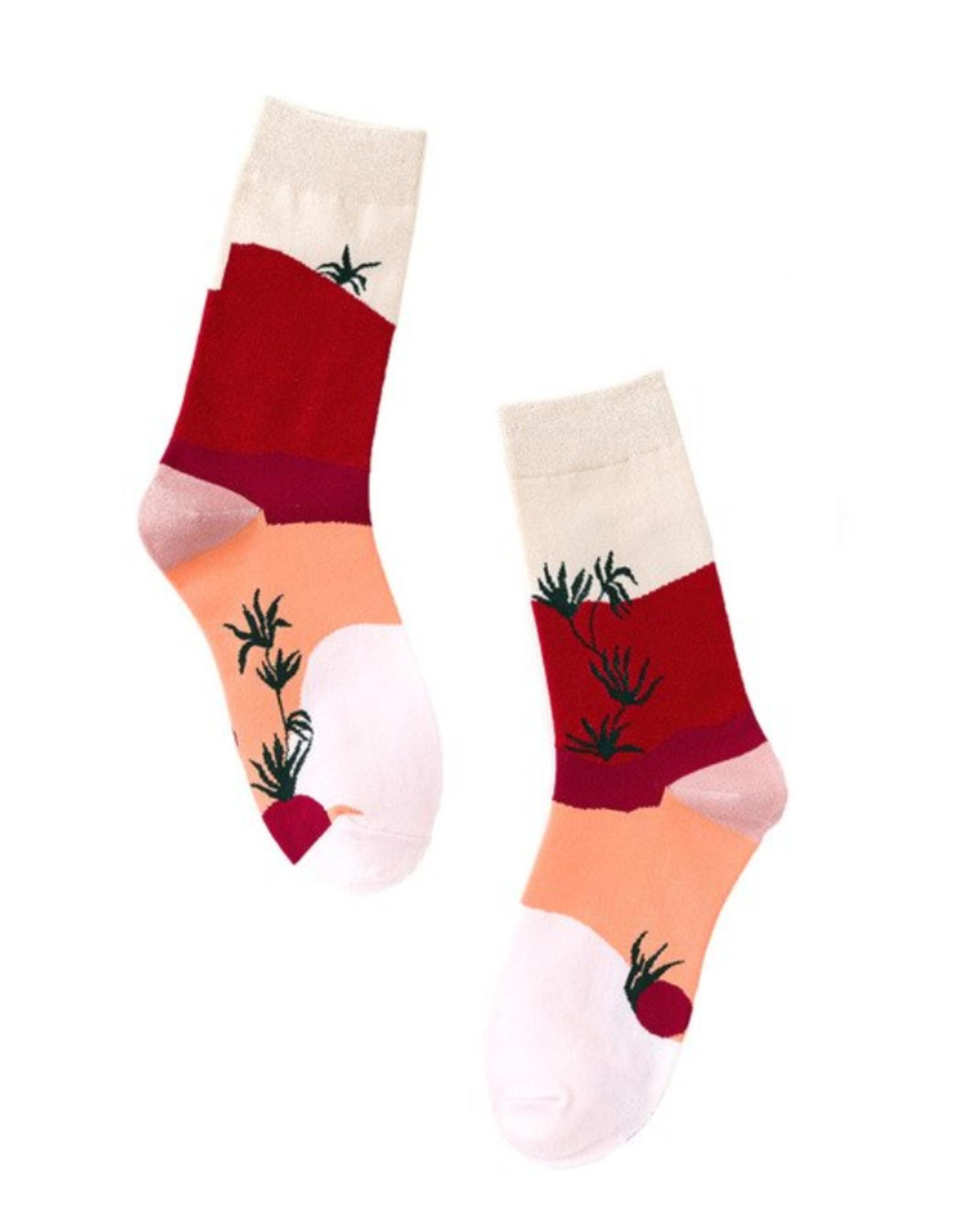 Stay Forever   Pink Desert Socks (W)