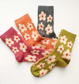 Combed Cotton Flower Socks (W)
