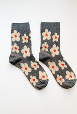 Combed Cotton Flower Socks (W)