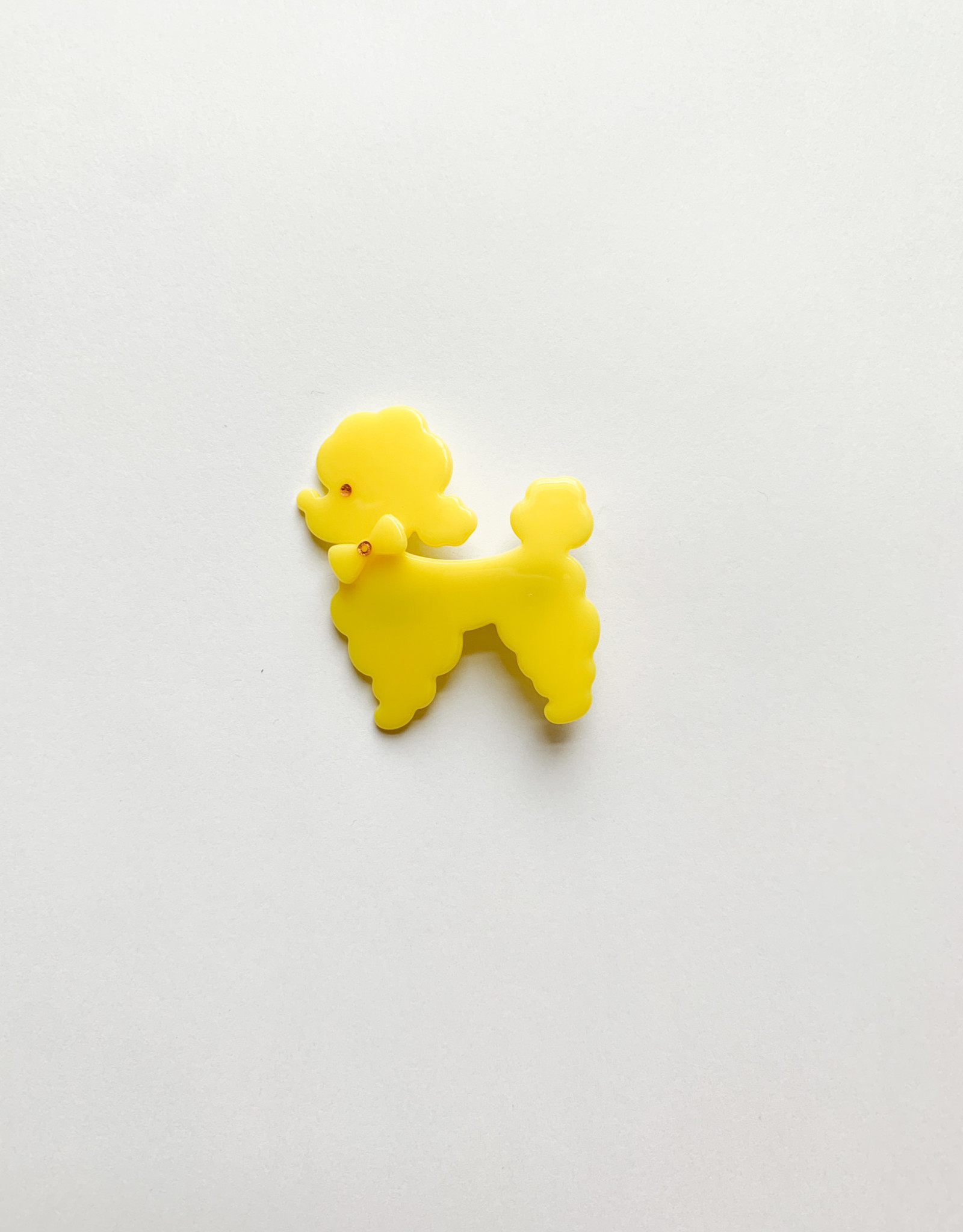 Stay Forever Acrylic Poodle Clip