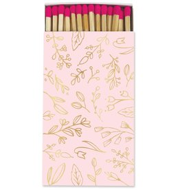 Frankie & Claude Pastel Pink & Gold Foil Floral Matches