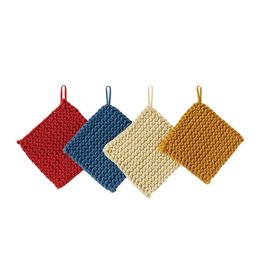 Creative Co-Op Primary Cotton Crochet Pot Holder