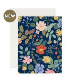 Rifle Paper Co. Rifle Paper | Strawberry Fields Navy Card