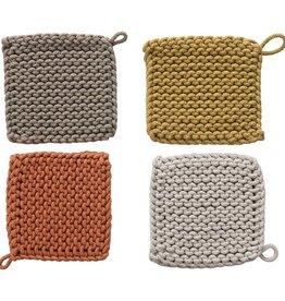 Creative Co-Op Sunset Cotton Crochet Pot Holders