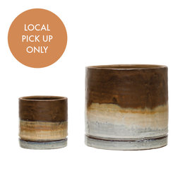 Creative Co-Op Brown Ombre Pot