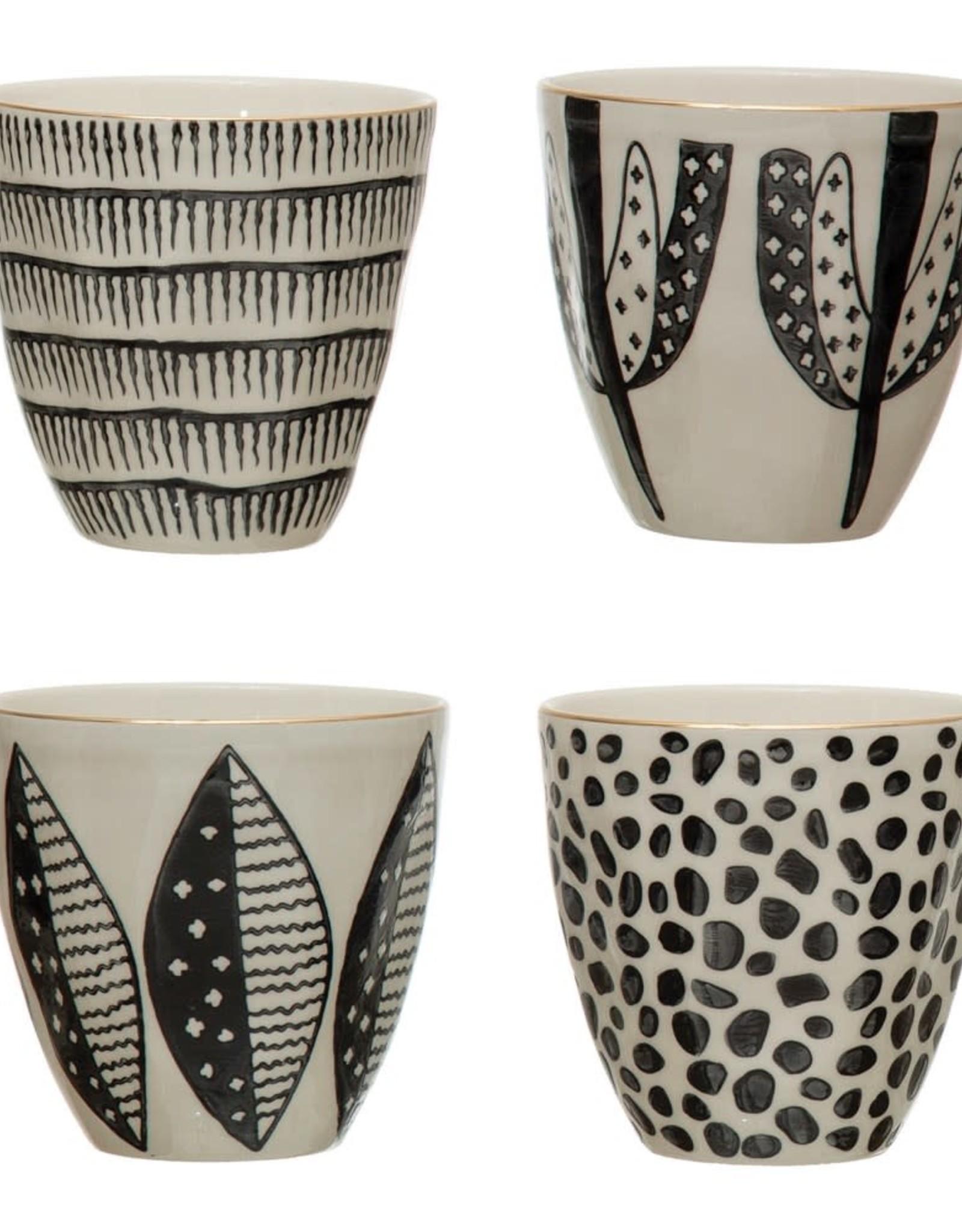 Black White Pattern Cups