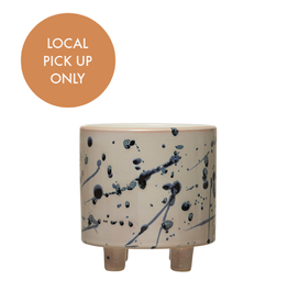 Footed Splatter Pot 5""