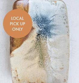 Creative Co-Op Oblong Stonewear Platter