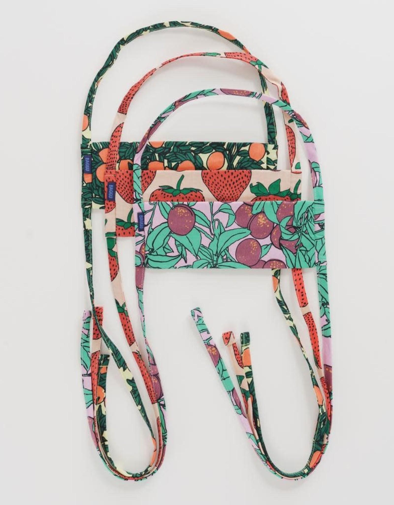 Baggu Baggu   Fabric Mask Set Tie - Backyard Fruit
