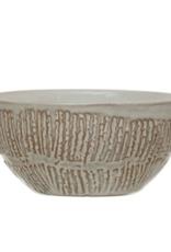 Embossed Stoneware Bowl