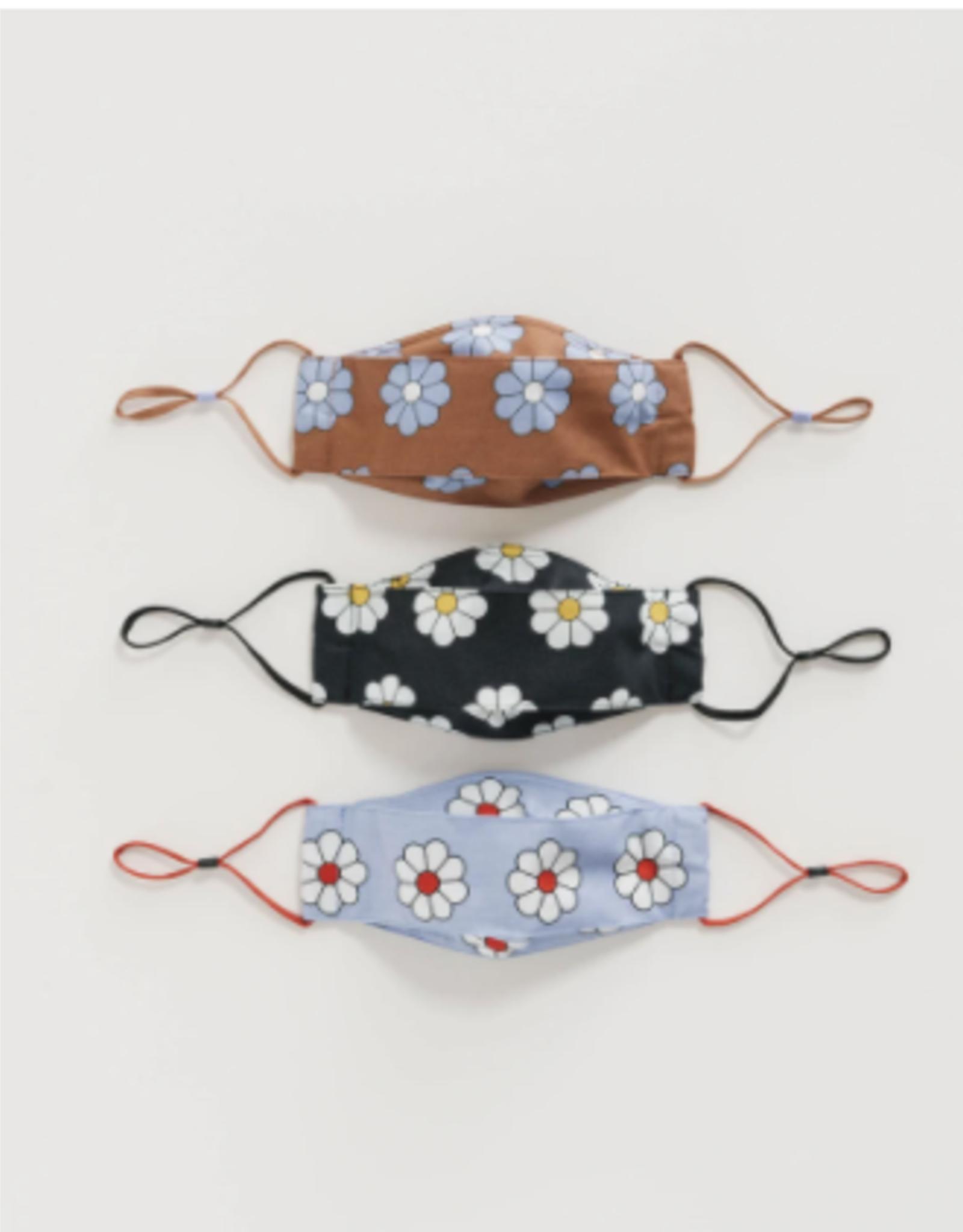 Baggu Baggu   Kids Fabric Loop Mask Set (Daisy)