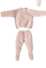 Creative Co-Op Cotton Knit Layette Set - Blush