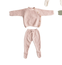 Creative Co-Op Cotton Knit Layette Set - Blush