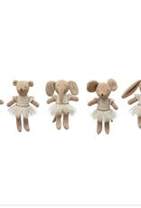 Creative Co-Op Assorted Plush Ballerina Animals