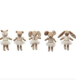 Creative Co-Op Assorted Plush Ballerina Animals