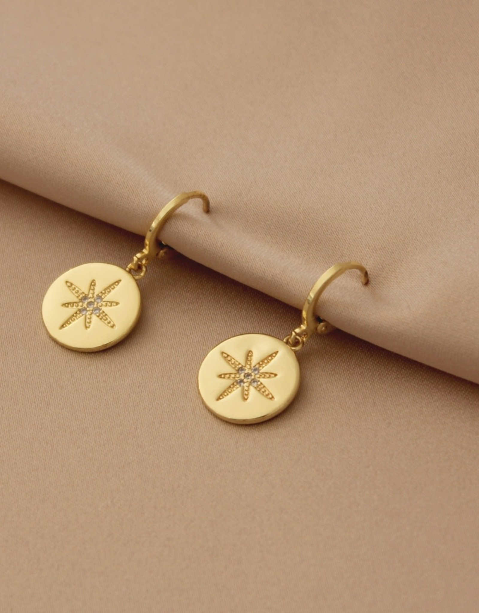 Mashallah Mashallah | Star Coin Huggie Earrings