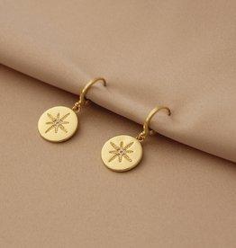 Mashallah Mashallah   Star Coin Huggie Earrings