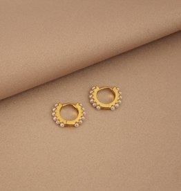 Mashallah Mashallah   Pearl Huggie Earrings