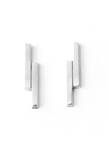 Upper Metal Class Upper Metal Class | Double Bar Earrings Sterling Silver