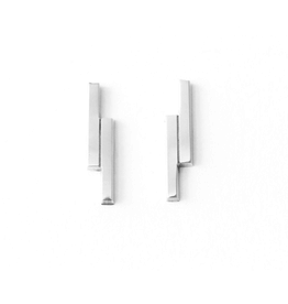 Upper Metal Class Upper Metal Class | Double Bar Earrings Sterling Silver