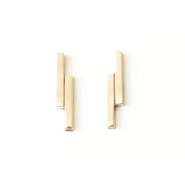 Upper Metal Class Upper Metal Class | Double Bar Earrings Bronze