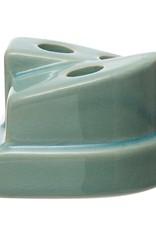 Aqua Glaze Tapered Candle Holder