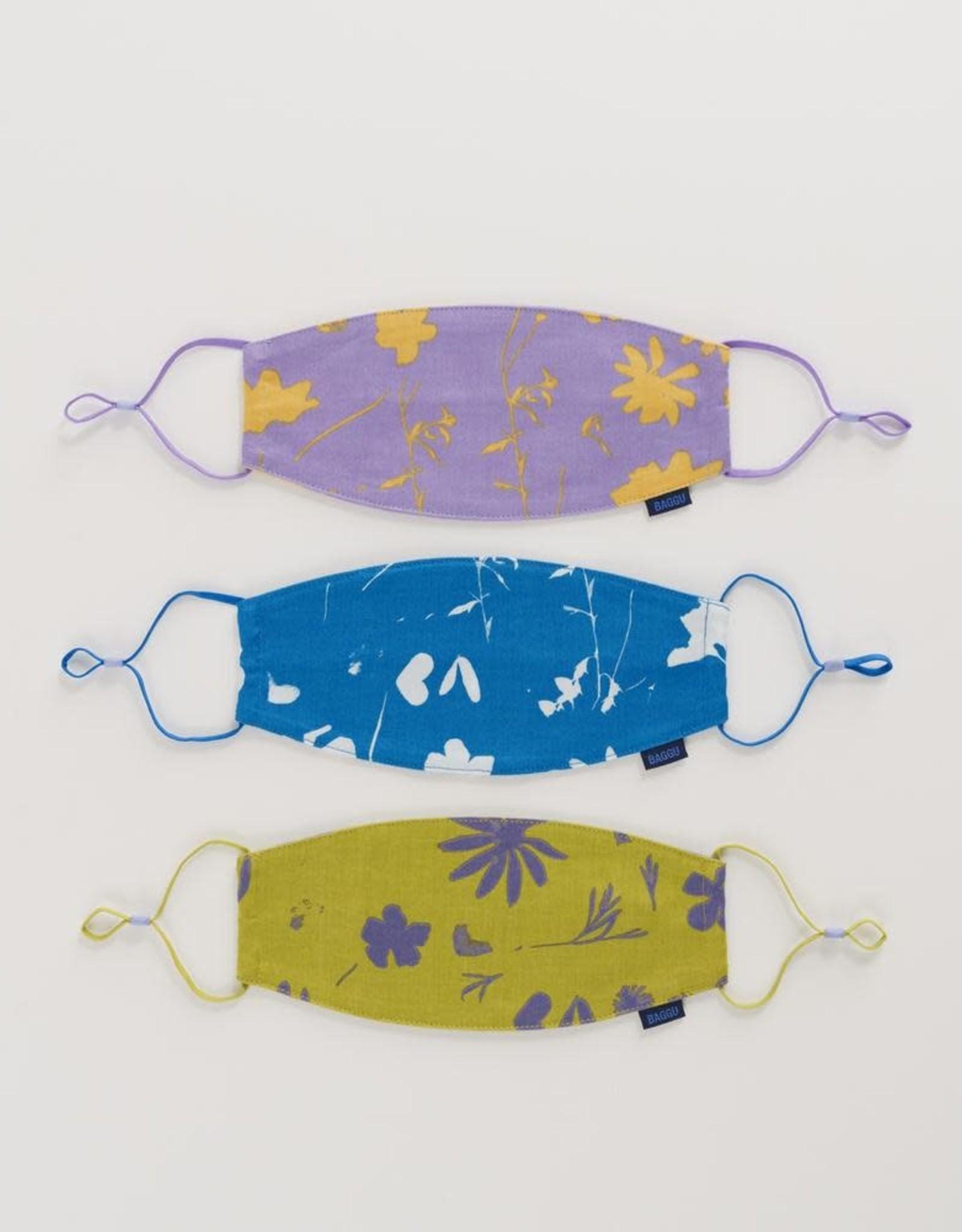 Baggu Baggu   Fabric Mask Set Loop - Floral Sun Prints