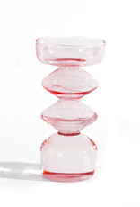 Glass Tower Bud Vase - Pink