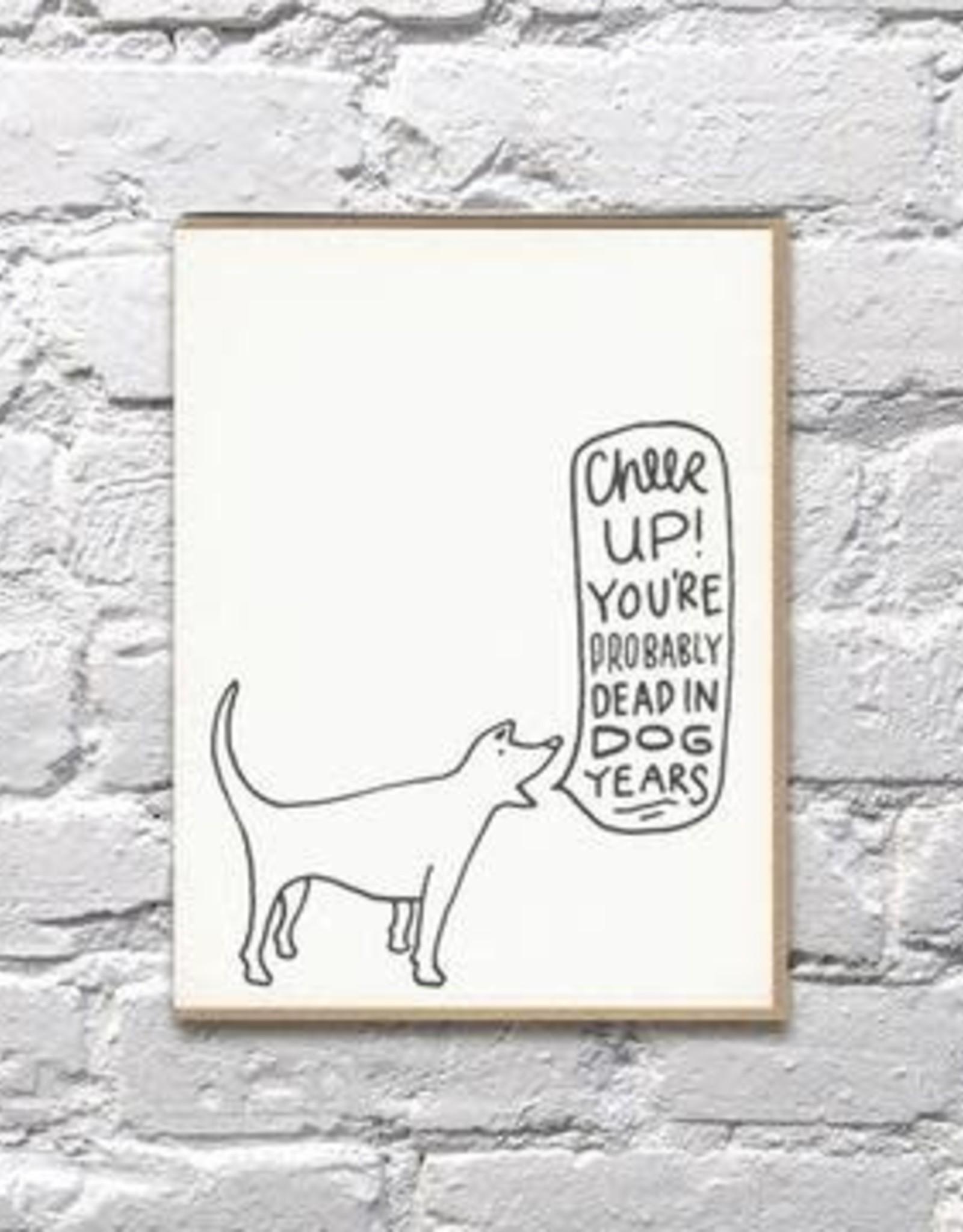 Bench Pressed Bench Pressed | Dog Years Birthday Card
