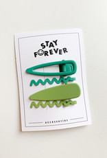 Stay Forever Stay Forever | Spring Clip Set Green