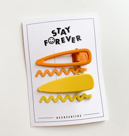 Stay Forever Stay Forever | Spring Clip Set Yellow